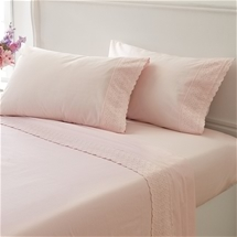 Chelsea Lace Cotton Percale Sheet Set