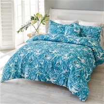 Printed pinsonic quilt cover set