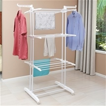 Mobile 3-Tiered Clothes Airer